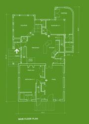 Green blueprint of home